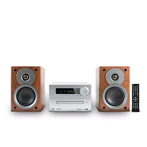 HAISER HSR 117 | 40 Watt RMS mit • CD-Player • Bluetooth • USB • Boxen • FM Radio | HiFi Component System