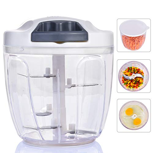 Vegetable Chopper, Ommani Onion Chopper 12 in 1 of Less Vapor, Professional 420 Detachable Blades...