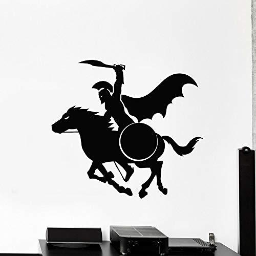 sanzangtang Vinyl Wandaufkleber Altgriechische Samurai Pferdeschild Fenster Glasaufkleber Cooles Wandbild Home Decoration,