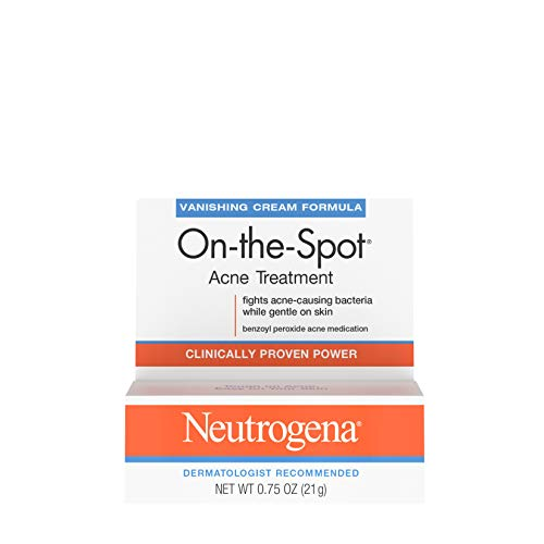 Neutrogena On-The-Spot Acne Treatment Vanishing Cream Formula 0.75 oz (Pack of 5)