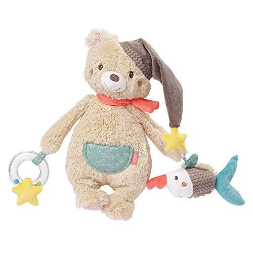 Fehn 060195 Activity-Bär – Motorikspielzeug zum Aufhängen – Für Babys und Kleinkinder ab 0+ Monaten – Maße: 28 cm