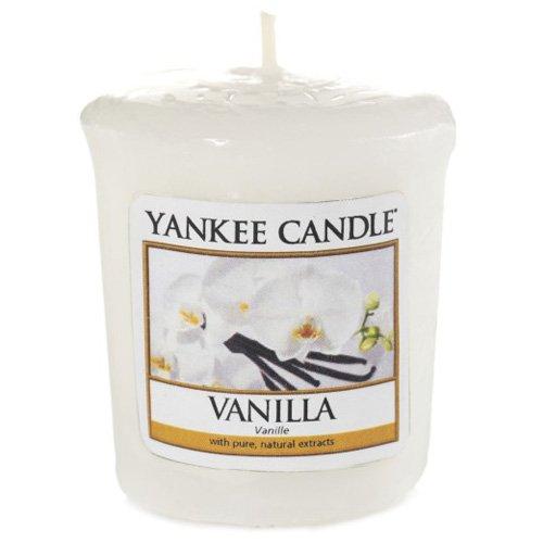 YANKEE CANDLE 49 g Vainilla Vela Votiva, Cera, Blanco, 5.0x4.5x5.3 cm