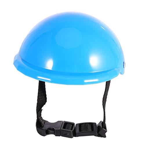 VILLCASE 1 x Schutzhelm für Hunde und Welpen, Sonnenschutz, Regenschutz, Haustierzubehör, 10,2 cm, Blau