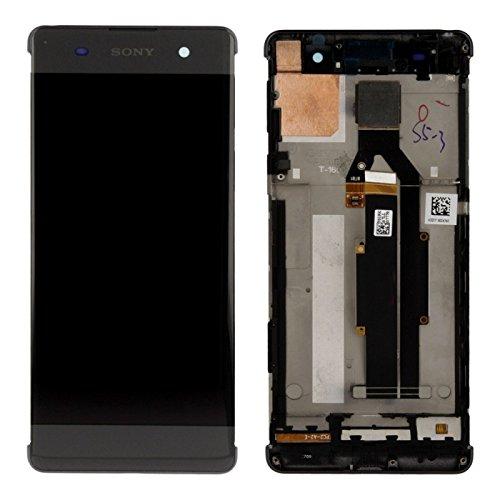 Sony Display Full LCD Komplettset mit Rahmen Touchscreen Glas Scheibe Ersatzteil Zubehör Reparatur Schwarz für Xperia XA F3111 F3112 Schwarz + Werkzeug Opening Tool