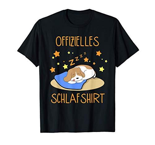 Offizielles Schlafshirt Hunde Schlafanzug Nachthemd Pyjama T-Shirt