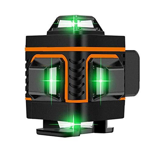 lulongyansf Nivel 16 Líneas 4D medidor de Nivel de Alta precisión automática Colocación Línea Naranja Colocación de la baldosa del Instrumento de Prueba y Aparato de medición