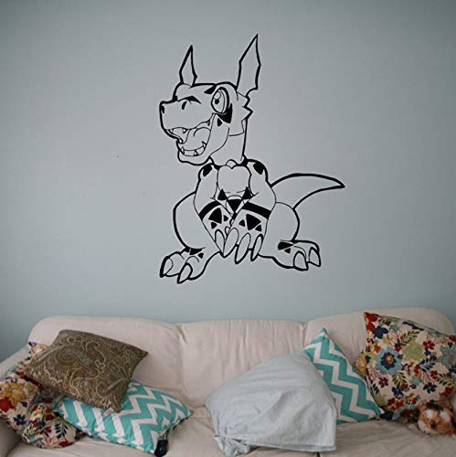 Digimon Dinosaurier Wandtattoo Vinyl Aufkleber Japanische Cartoons Haushaltswaren Design Anime Manga Kinder Kinderzimmer Idee Schlafzimmer 58 * 79Cm