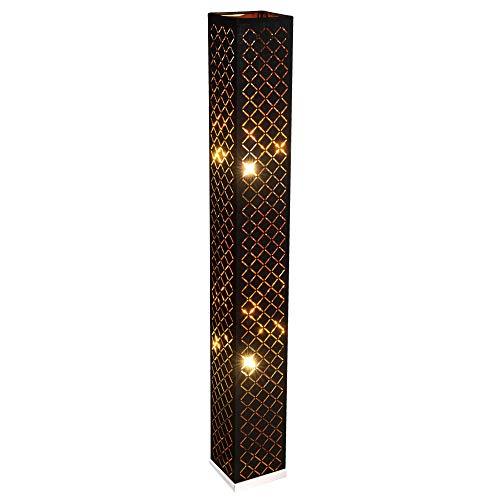 Design Steh Lampe schwarz Wohn Schlaf Zimmer Decken Fluter Textil Stand Leuchte GOLD Globo 15229S2