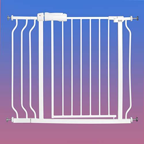 COSTWAY Barrière de Sécurité Bébé en Métal sans Perçage Portes d'Escalier Extensible de 74 à 98CM Montage sous Pression sans Outils pour Bébés ou Animaux