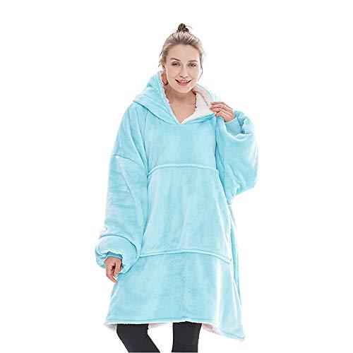 Lushforest Manta con capucha, sudadera, muy suave, cálida, cómoda, para adultos, hombres, mujeres, adolescentes, de gran tamaño