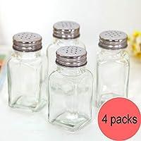 台所用調理器具、台所/バーベキューの香辛料の貯蔵のために適したガラス創造的な長方形/円形の環境に優しい瓶、,B