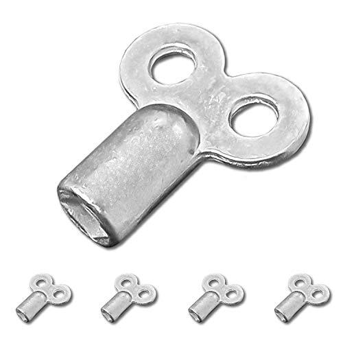 Nirox 5x Heizungsentlüftungsschlüssel - Robuste Entlüftungsschlüssel aus Aluminium - Heizungsschlüssel für nahezu alle Heizungen/Heizkörper - Handlicher Radiator-Schlüssel
