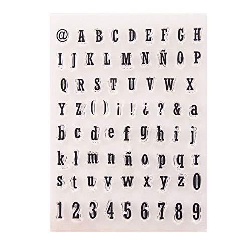 Uteruik Silikon-Stempel mit Buchstaben, digital, Symbol-Muster für Kartenherstellung, Dekoration und DIY, Scrapbooking, Prägung, Album, Dekoration, Handwerk #C