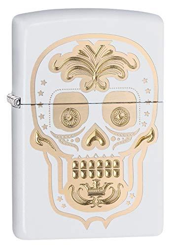 Zippo Sugar Skull White Matte Pocket Lighter
