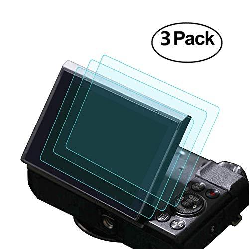 Glas-Displayschutzfolie für Kameras Canon G7X Mark II G9X G7X G5X, Masstimo 3, Kratzschutz, wasserdicht, HD, transparent, 9H-Panzerglas
