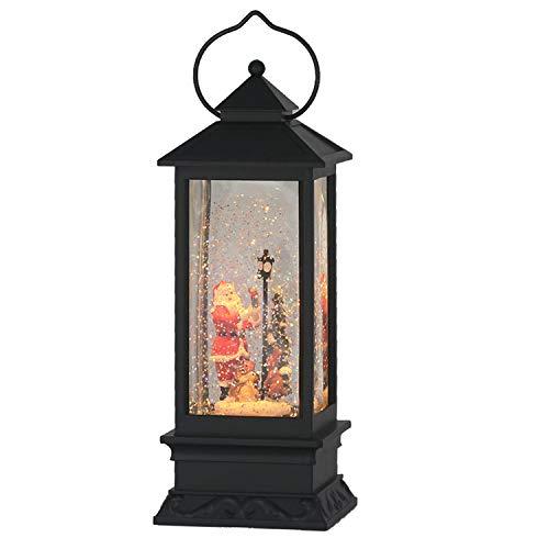 Eldnacele Christmas Snow Globe Lantern with Music