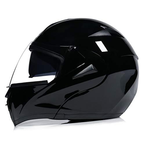Motesen Casco modulare DOT Casco apribile Casco moto Integrale Doppia lente con visiera parasole interna Caschi moto da corsa