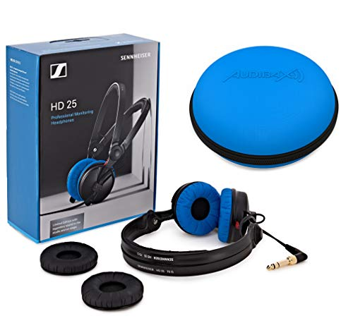 Sennheiser HD 25 Blue/Black Edición Limitada con Case Funda Azul