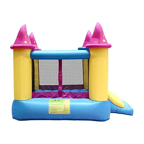 SGSG Castillos hinchables Tobogán para niños Castillo Inflable al Aire Libre Casa pequeña trampolín Inflables y Castillos hinchables