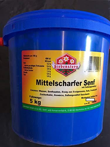 Senf Siebenstern mittelscharf 5 Kg Eimer
