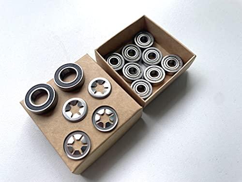Timbera Kit de reparación de rodamientos de bolas para ruedas delanteras Husqvarna Automower, ejes delanteros y eje de husillo del motor (para modelo: 310 315 315X)