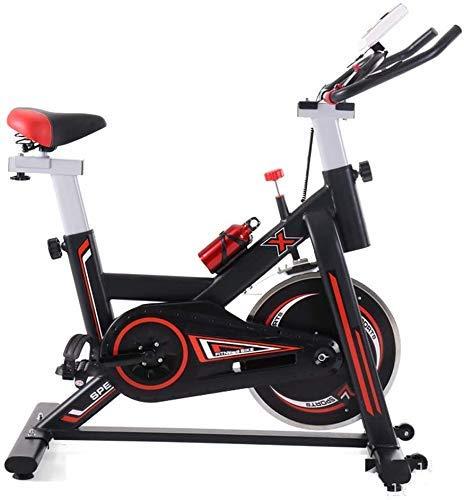 XUSHEN-HU Bicicleta de ejercicio de ciclismo indoor, LCD de visualización electrónica lee Tiempo etc, manillar ajustable del asiento Resistencia, Rotar electromagnética for bicicletas casa con portáti