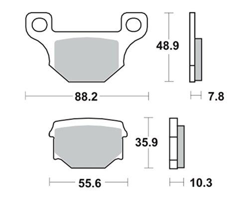 Bremsbeläge TRW MCB765 für TGB 50 Bullet RS, RR 06-11 (vorne)