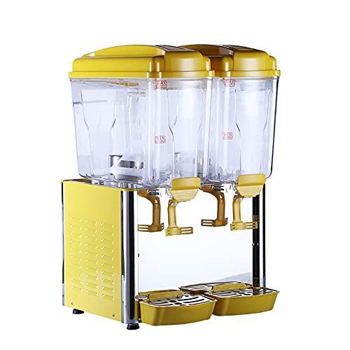 MNSSRN Máquina de Bebidas frías y frías de Dos Cilindros, máquina de Bebidas de maquinaria de Jugo de cafetería Automático Frío Hielo Té Bebida 18L Fiesta de Restaurante de Gran Capacidad