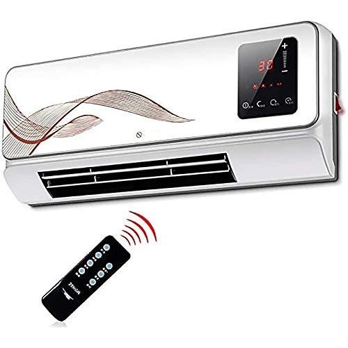 SSDM Calentador De Ventilador Eléctrico De Cerámica PTC De 2000 W, Temporizador De Ventilador De Refrigeración Y Control Remoto, Ideal para El Hogar, La Oficina Y Los Locales Comerciales