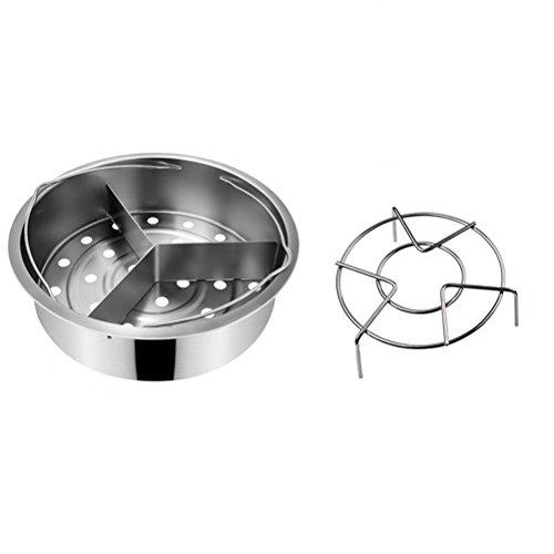 BESTonZON Dämpfaufsatz Edelstahl mit Ständer Kochtopf Zubehör
