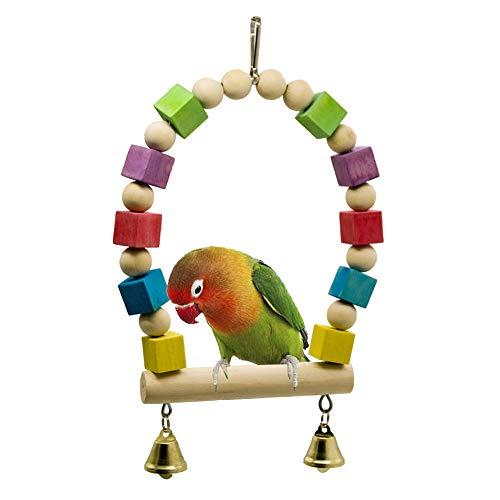 ZUOLUO Juguetes para Loros Juguetes para Periquitos Juguetes De pájaros para pájaros Loro Loro Perchas Loro de Juguete Loro Juguetes Africano Gris
