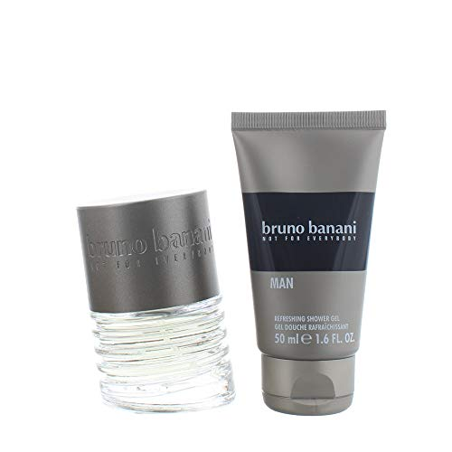 Bruno Banani Man Duftset Eau de Toilette 30ml + Showergel 50ml, 1er Pack (1 x 80 ml)