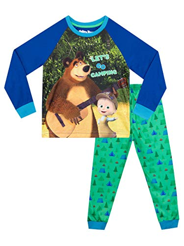 Masha y el Oso Pijamas de Manga Larga para niños Multicolor 4-5 Años