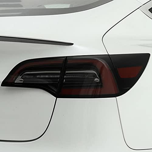 YYHHADM Car Headlight Protective Film Taillight Smoked Black Tint Wrap Vinyl Transparent TPU Sticker,for Tesla Model Y 2020 2021