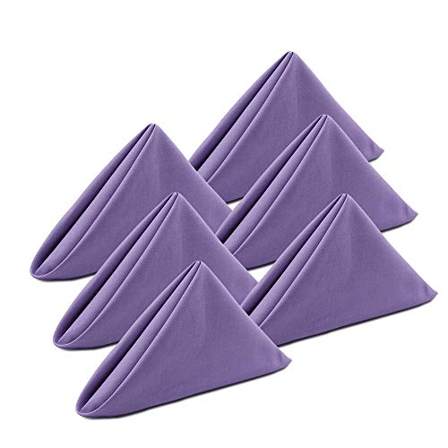 KOFFOTA Cloth Napkins for Dinner Set of 6. Table Decorations for Spring,Easter.Washable,Thick and Durable.Everyday Family Use, Party Table Setting, Restaurants.18x18(Lavender)