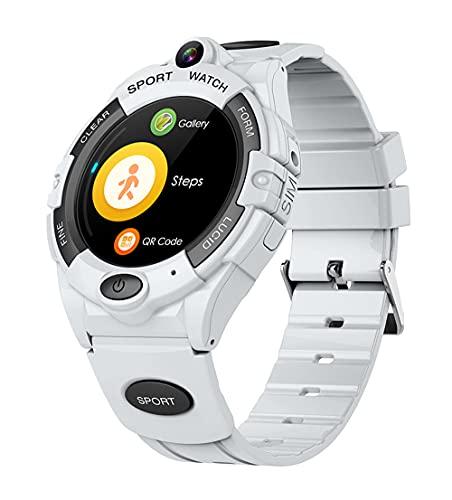 Smart Watch per Bambini 4G Videochiamata Videochiamata WiFi utilizzando SIM Card SmartWatch per Bambino Baby Boy 680mah Big Bottle Regalo, Monsteramy. (Color : White, Size : Europe And America)