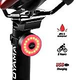 DONPEREGRINO M2 - Luz Trasera Bici Compacta 8 Horas de Duración, LED Luz Bicicleta USB Recargable con 5 Modos Novedosos
