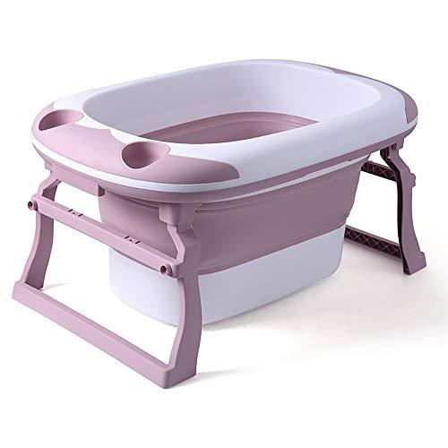 JFDHNUI Bebé Confort de hidromasaje, Piscina de Niños de hidromasaje, de Protección Ambiental Antideslizante for niños de hidromasaje, Bañera de hidromasaje Gel de Ducha Plegable (Color : B)