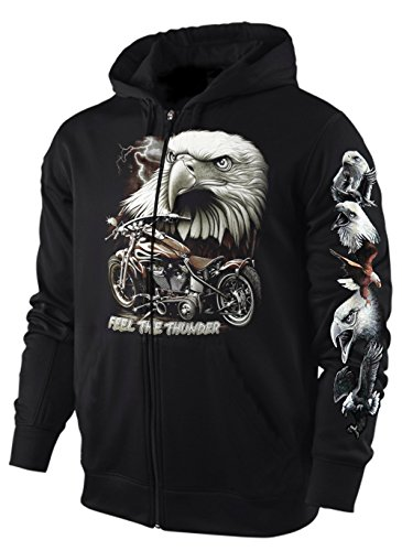 Sweatshirt Jacke/Hoody Adler Feel The Thunder Größe L