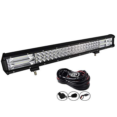AUXTINGS 22 Zoll 324W LED Lichtleiste dreireihig Spot Flood Combo Beam Off Road Lichter wasserdicht Arbeitslicht für LKWs SUV ATV UTV Lichter
