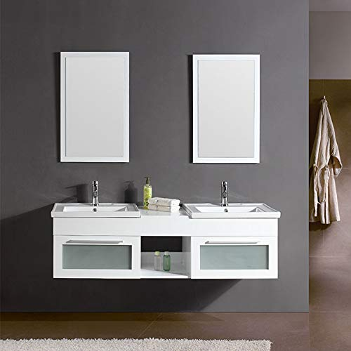 Find Bargain DP Home 60 in. White Plywood Double Vanity Sets (DK-T9118-1-SET)