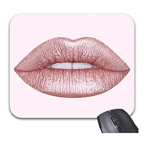 Rose Gold Lippenstift Mauspads Trendy Office Desketop Computerzubehörch