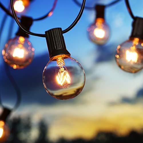 Lichterkette Außen G40 Glühbirnen BrizLabs 7.6M 25 + 2 Birnen Garten...