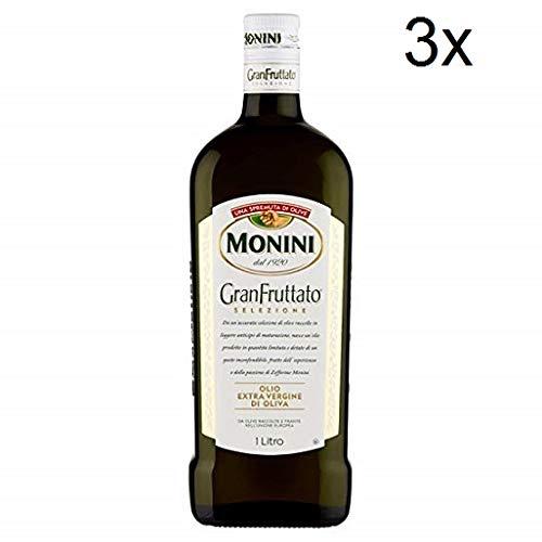 3x Monini Granfruttato Extra Vergin Italian Olive Oil 1l