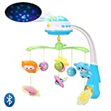 Product Image of the INTMEDIC Baby Musical Crib Mobile with Star Projection, Bluetooth, Volume...