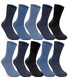 10 Paar Socken 100prozent Baumwolle Damen und Herren Socken ohne Gummidruck & ohne Naht (Jeans 39-42)