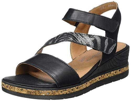 Remonte Damskie sandały D3054, Czarny czarny czarny czarny 01, 40 EU