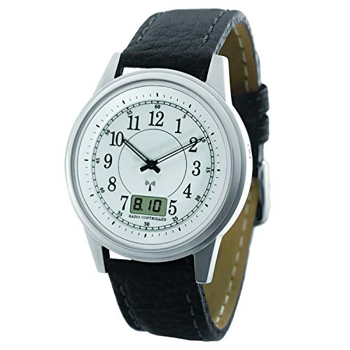 La Crosse Technology EH-23SA Stainless Steel Atomic Watch,Silver