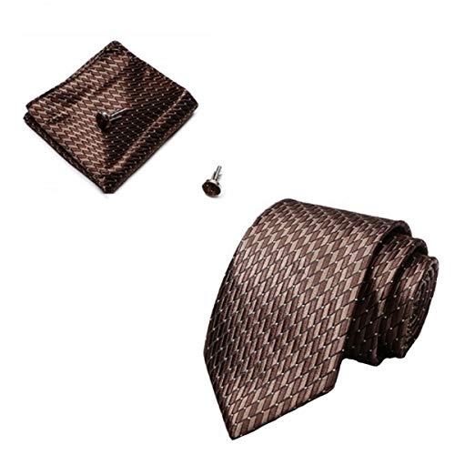 Elemental Goods [72 Variationen] Premium Herren Krawattenset - 3-Teiliges Set - Luxus-Krawatte - Lange Größe 145cm X 8cm - Necktie - Gewebt - Taschentuch - Manschettenknöpfe