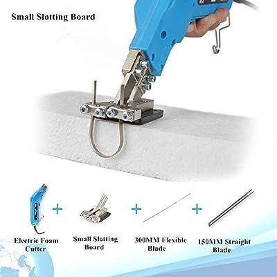 110V Electric Hot Foam Cutter Knife Grooving Wire Styrofoam Engraving Tool Kit Blade Slotting Board DIY Sculpture